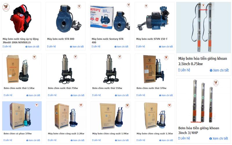 máy bơm nước sử dụng phổ biến nhất
